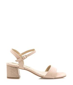 d67c4e252e Béžové sandály s širokým podpatkem Maria Mare