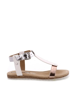 ea05f6f4a Bílé korkové letní sandálky MARIA MARE