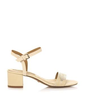 Koupit Zlaté sandály na širokém nízkém podpatku Maria Mare