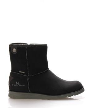 Černé zimní boty s kožíškem Bruno Banani
