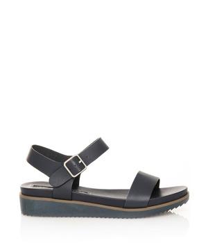 962c293fb8 Tmavě modré sandálky na klínku MARIA MARE