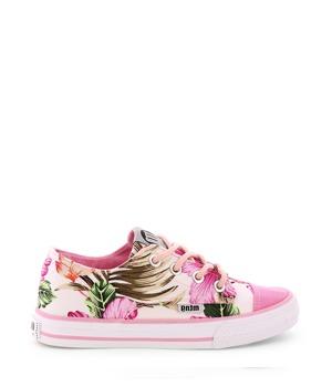 Růžové květované nízké tenisky MTNG 36
