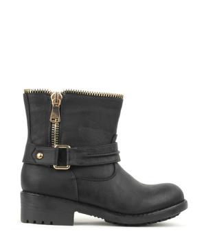 b1f2b1132d7 Stylové zipové černé kotníkové boty Claudia Ghizzani