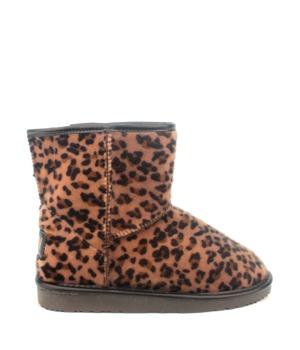 Break & Walk Leopardí nízké válenky s kožíškem Break&Walk