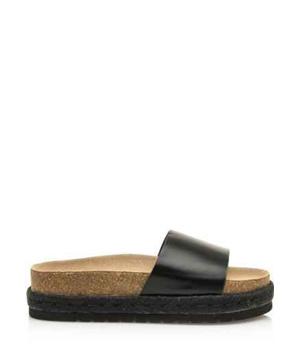 ed71e7ae74 Černé pantofle s espadrilovou podrážkou MTNG