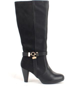Černé elegantní kozačky na podpatku D'Angela 37