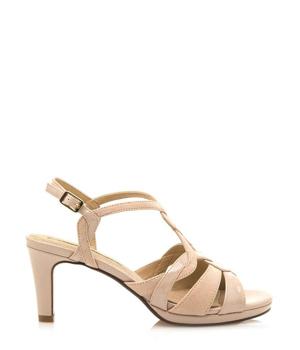 Béžové sandály na podpatku Maria Mare – ON-LINE KATALOG e29580e080