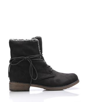 19c741c6758 Černé šněrovací boty s kožíškem Claudia Ghizzani