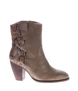 f3e9a8ae38b1 Hnědé hadí boty na podpatku H3 shoes – ON-LINE KATALOG