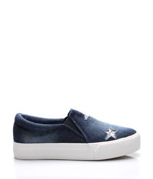 Koupit Tmavě modré jeansové nazouvací tenisky Claudia Ghizzani