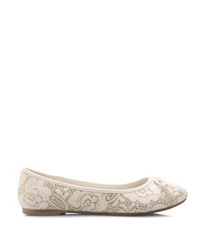 Bílé krajkové baleríny Monshoe 36