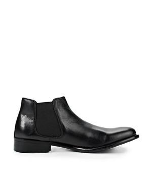 Černé pánské kožené kotníkové boty Paolo Vandini 45