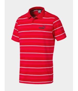 Tričko Puma Essentials+ Stripe J.Polo Červená