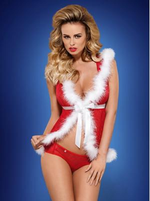 Vánoční kostým Santacutie peignoir - Obsessive