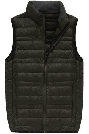 02157e87a6ec Khaki pánská vesta s přírodní vycpávkou (5008)