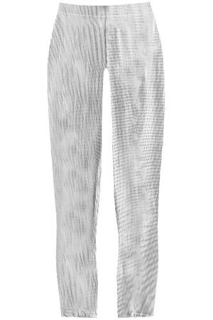 9e1dc1465f51 Bílo-černé lesklé legíny s geometrickým vzorem (323 1ART)