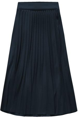 462649ce32f Tmavě modrá plisovaná sukně v midi délce (140ART)
