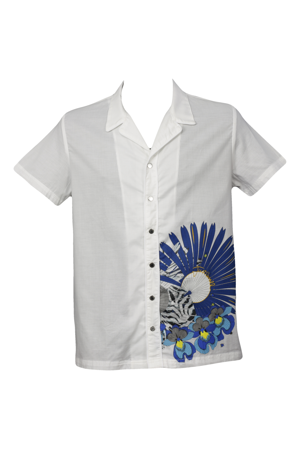 Pánská košile kr. rukáv bílá A625 Just Cavalli ad197d9b83