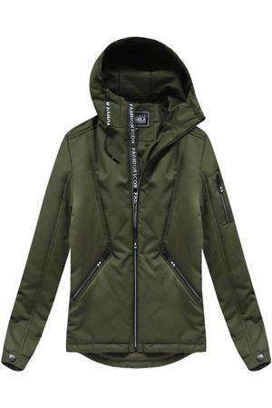 03a142577 Pánská bunda v khaki barvě s kapucí (XM721X)