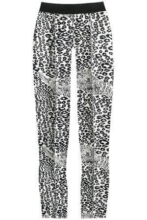 e16a5d1adf8b Bílo-černé lesklé legíny s panteřím vzorem (315 1ART)