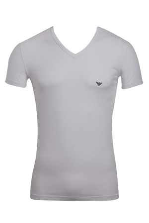 6813504731 Pánské tričko 110810 CC735 00010 bílá - Emporio Armani