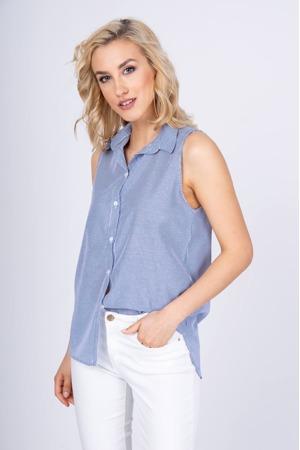 2f67e5ee49e3 Dámská pruhovaná košile - vesta s límečkem