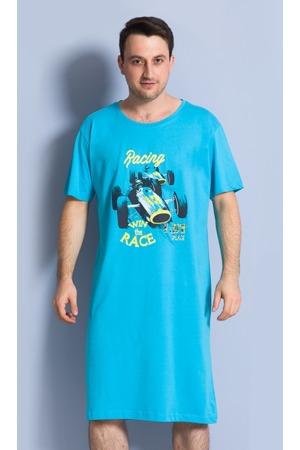 Pánská noční košile s krátkým rukávem Závodní auto 9b46290107