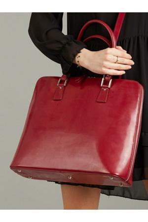 Elegantní bordó kožená kabelka