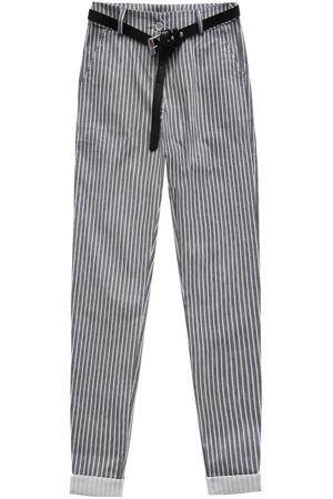 Bílo-tmavě modré kalhoty s opaskem 2 (2918) 3808a7cb98