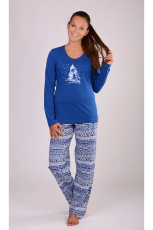 b07afd1cd Dámské pyžamo dlouhé Sněhulák - Vienetta