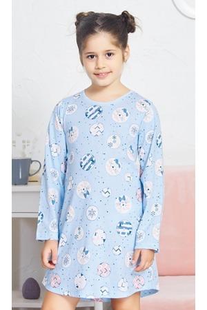 Dětská noční košile s dlouhým rukávem Kitty efca1f0e36