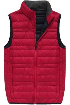 451a4ebb115e Červená pánská vesta s přírodní vycpávkou (5008)