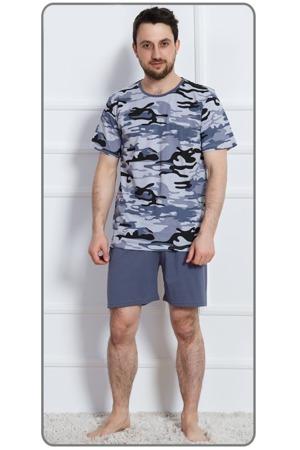 61fb43d66baf Pánské pyžamo šortky Army nadměr