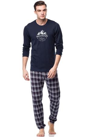 3b175d818ddc Pánské pyžamo 00-17-7521-180 tmavě modrá - Vamp
