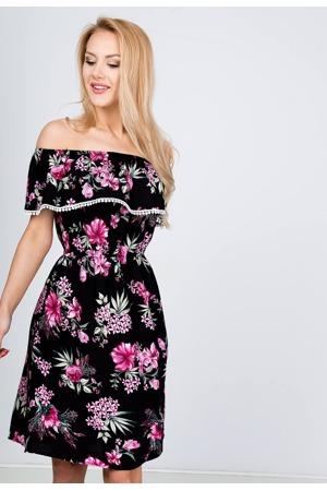 8e47ebfd6d66 Dámské květované šaty ve španělském stylu