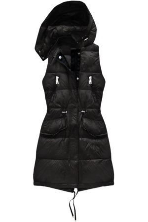 130a64e9eb18 Černá vesta s přírodní péřovou výplní (8050)