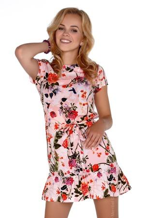 918731f625d1 Dámské šaty model P30228 růžová - Merribel
