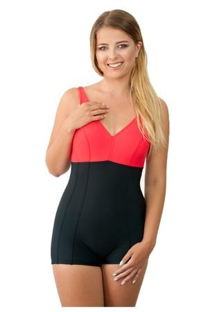 55095dd41a Dámské jednodílné plavky 930 black-red