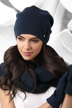 Dámská čepice model 163366 tmavě modrá - Kamea a7e068e938