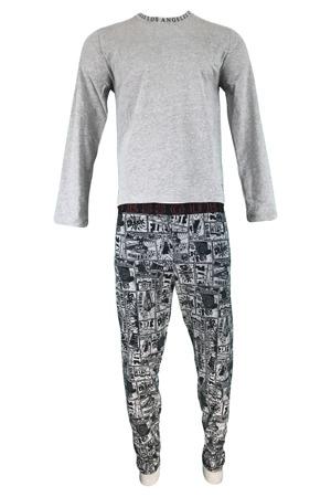 d70caae1ffbc Pánské pyžamo U91X02 JR03O - L999 šedočerná - Guess