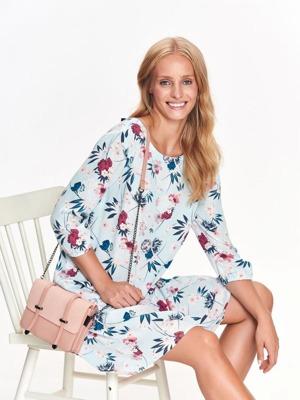 2845822d651f Top Secret šaty dámské květované s 3 4 rukávem a zavazovací tkanicí na  zadním díle