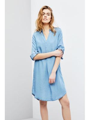 df926afdd25 Moodo šaty dámské košilový střih s dlouhým rukávem – Letní šaty
