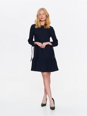 020bd6f96ef8 Top Secret šaty dámské tmavě modré s volánkem a dlouhým rukávem