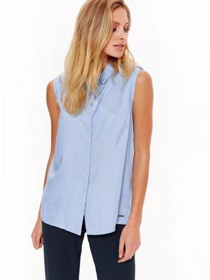 Top Secret Košile dámská světle modrá bez rukávu 340aceb253