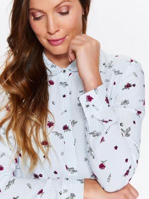 Top Secret Košile dámská s potiskem květin a dlouhým rukávem 8c5704628e