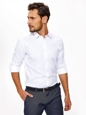 11d14a85c Top Secret Košile pánská bílá s dlouhým rukávem