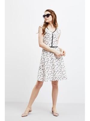fd1b976b670c Moodo šaty dámské vzorované s krátkým rukávem