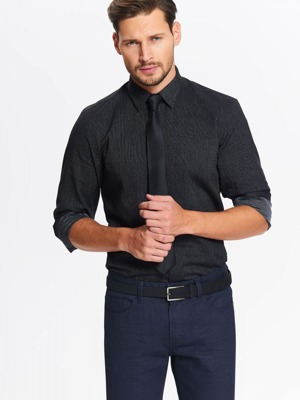 46af16b23 Top Secret Košile pánská se vzorem a dlouhým rukávem