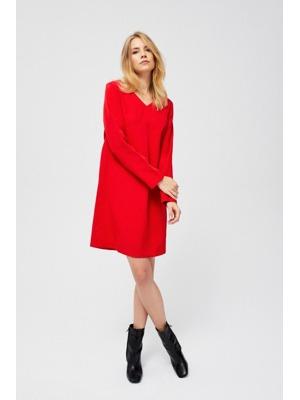 3bc88892b960 Moodo šaty dámské s dlouhým rukávem a výstřihem do V