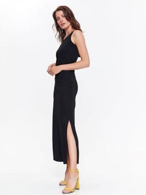 c7eaa75d63c1 Top Secret šaty dámské černé dlouhé se zdobeným zadním dílem